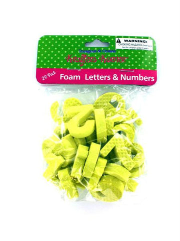 Foam Letters & Numbers (Available in a pack of 12)