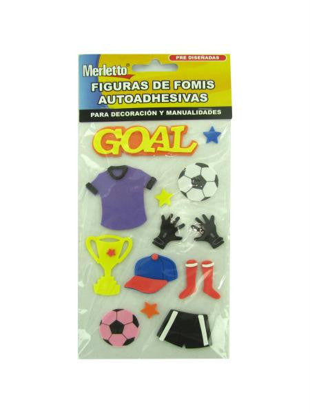 Foam soccer stickers (Available in a pack of 12)
