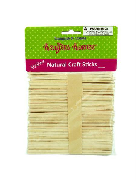 Natural Wood Craft Sticks (Available in a pack of 25)