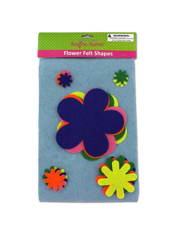 Felt Flower Cut-Outs (Available in a pack of 12)
