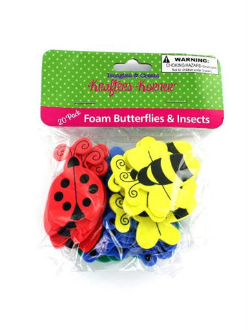Foam Butterfly & Insect Shapes (Available in a pack of 36)