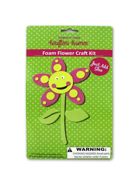 Foam flower craft kit (Available in a pack of 24)