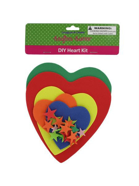 Do-It-Yourself Foam Heart Craft Kit (Available in a pack of 12)