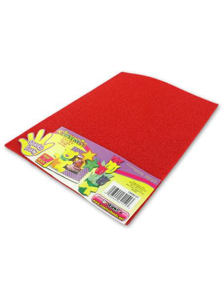 Red sparkle foam craft sheet (Available in a pack of 18)
