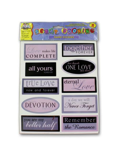 Sentiment scrap book stickers (Available in a pack of 24)