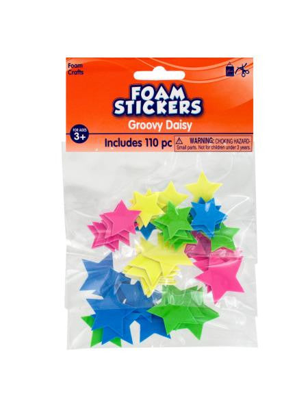 Glow in the Dark Foam Stars Stickers (Available in a pack of 18)