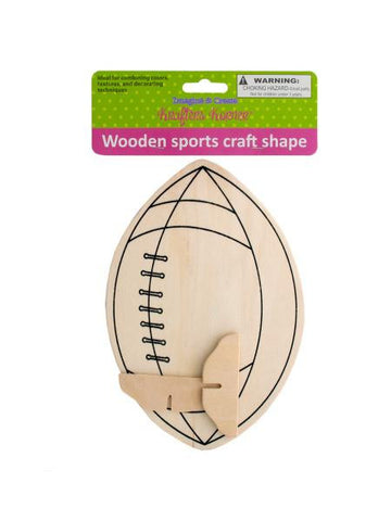 Wooden Sports Craft Shape (Available in a pack of 12)