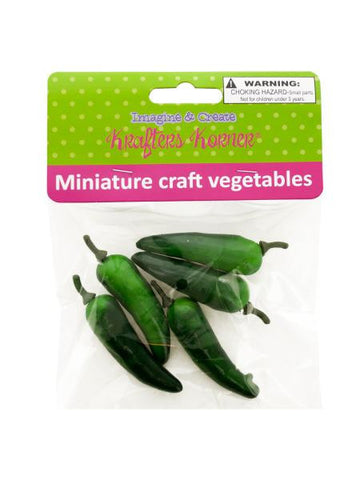 Miniature Craft Vegetables (Available in a pack of 12)