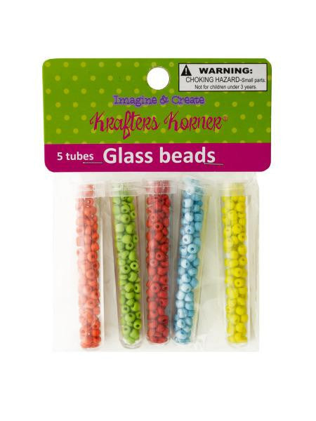 Multi-Color Glass Beads in Tubes (Available in a pack of 12)