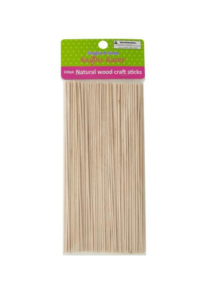 Skinny Natural Wood Craft Sticks (Available in a pack of 12)