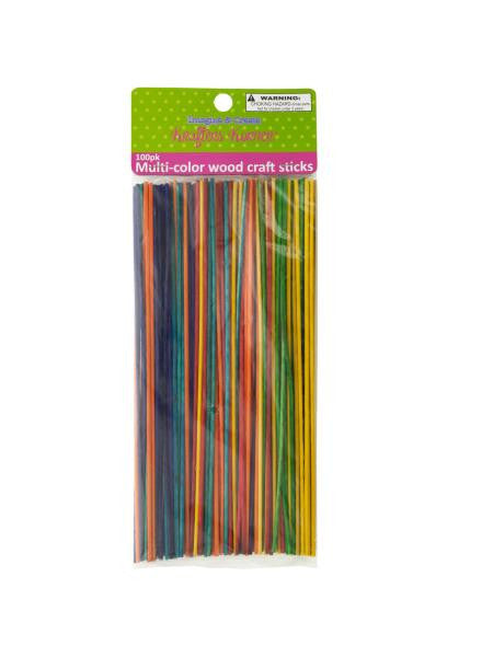 Multi-color Wood Craft Sticks (Available in a pack of 12)