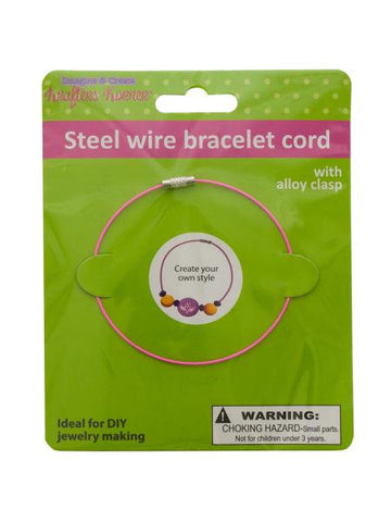 Steel Wire Craft Bracelet (Available in a pack of 12)