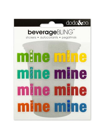 'Mine' Beverage Bling Stickers (Available in a pack of 24) - Blobimports.com