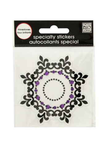 Black Icon Rhinestone Specialty Sticker (Available in a pack of 24)