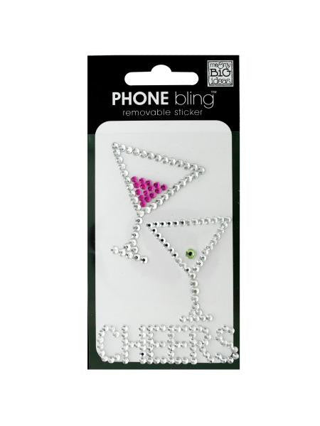 'Cheers' Phone Bling Removable Stickers (Available in a pack of 24)