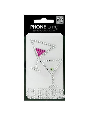 'Cheers' Phone Bling Removable Stickers (Available in a pack of 24) - Blobimports.com