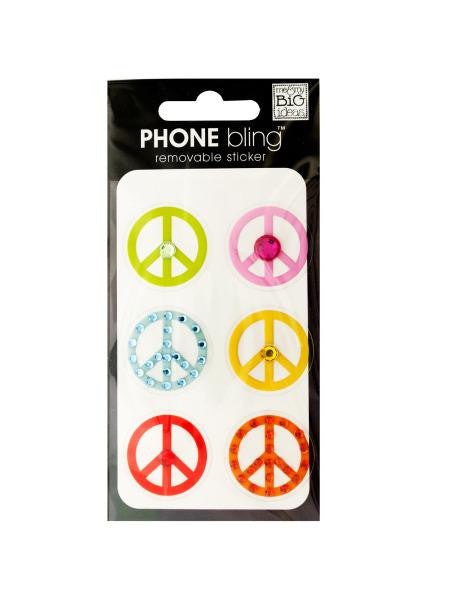 Peace Signs Phone Bling Removable Stickers (Available in a pack of 24)