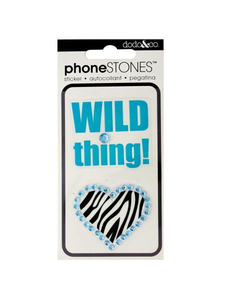 Wild Thing! Phone Stones Stickers (Available in a pack of 24)