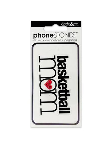 Basketball Mom Phone Stones Sticker (Available in a pack of 24)