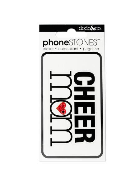 Cheer Mom Phone Stones Sticker (Available in a pack of 24)