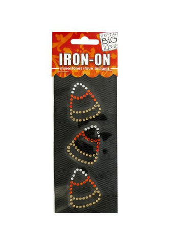 Candy Corn Rhinestone Iron-On Transfer (Available in a pack of 24)