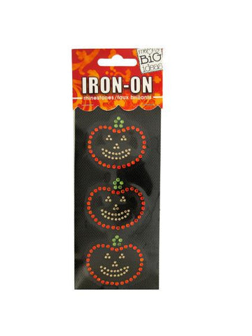 Jack-O-Lanterns Rhinestone Iron-On Transfer (Available in a pack of 24)