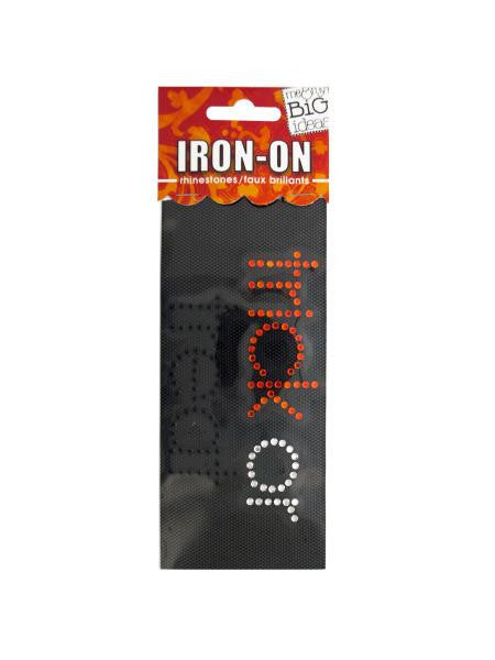 'Trick or Treat' Rhinestone Iron-On Transfer (Available in a pack of 24)