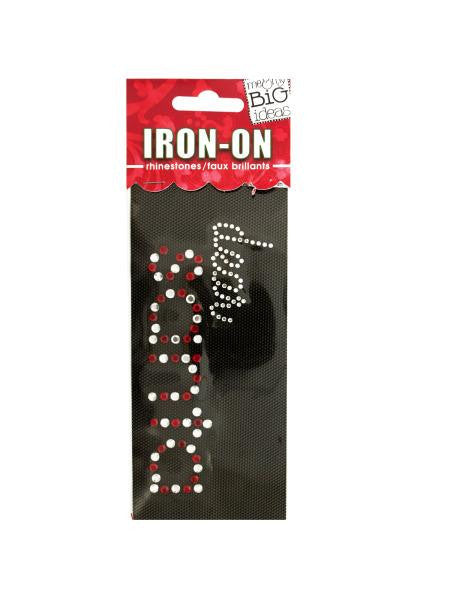 'Dear Santa' Rhinestone Iron-On Transfer (Available in a pack of 24) - Blobimports.com