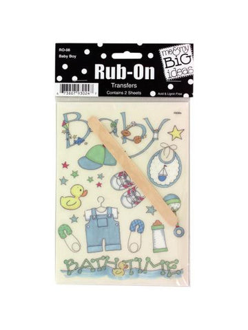 Baby Boy Rub-On Transfers (Available in a pack of 24)