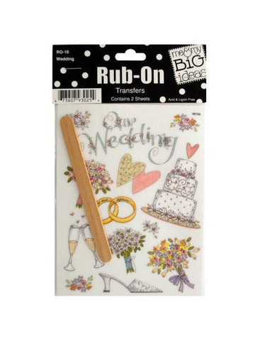 Wedding Rub-On Transfers (Available in a pack of 24)