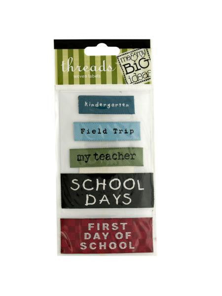School Woven Labels (Available in a pack of 24)