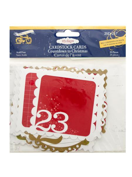 25 Days of Christmas Cardstock Cards (Available in a pack of 24)