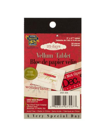 25 Days of Christmas Vellum Tablet (Available in a pack of 24)