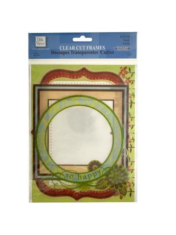 Clear Cut Family Frames with Glitter Accents (Available in a pack of 24)