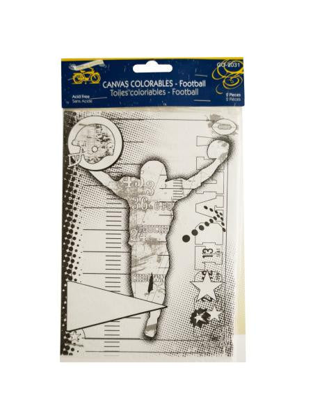 Football Canvas Colorable (Available in a pack of 24)