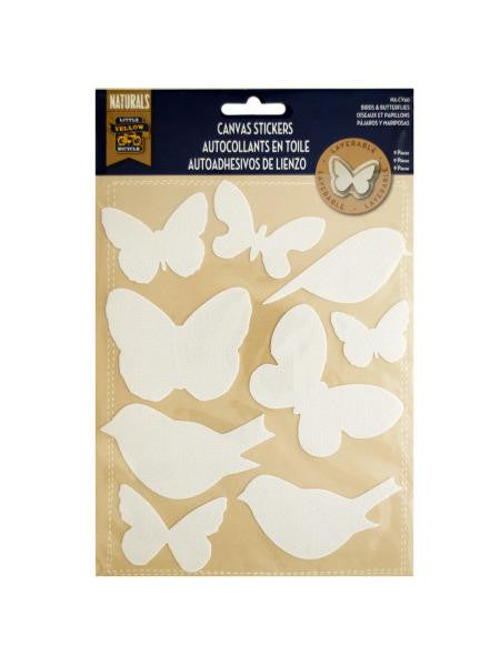 Layerable Birds & Butterflies Canvas Stickers (Available in a pack of 30)