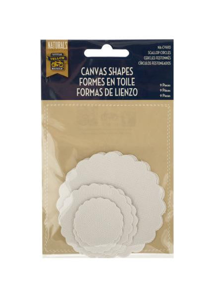 Canvas Scallop Circles Craft Embellishments (Available in a pack of 24)