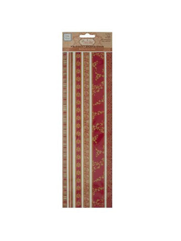 Reds Decorative Fabric Borders Stickers (Available in a pack of 30)