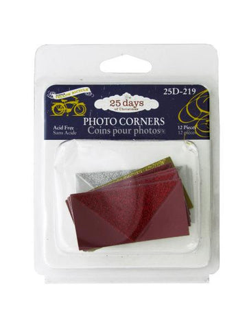 Christmas Glitter Photo Corners (Available in a pack of 24)