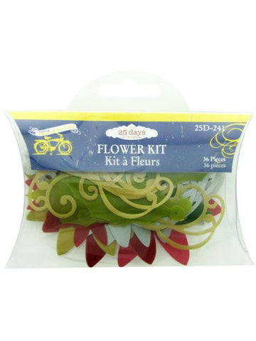 Christmas Flower Craft Kit (Available in a pack of 24)