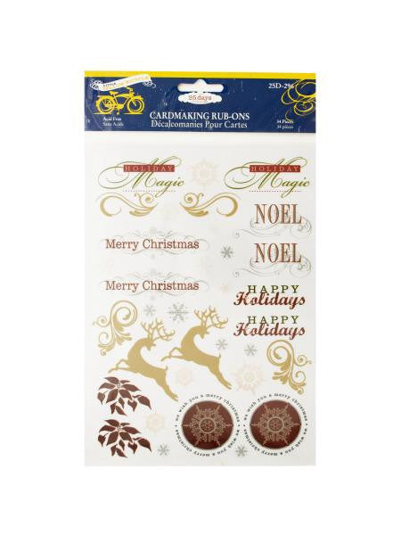 Christmas Cardmaking Rub-Ons (Available in a pack of 24)