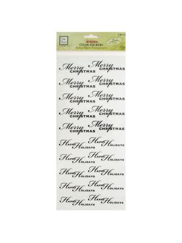 Christmas Greetings Clear Cardmaking Stickers (Available in a pack of 24)