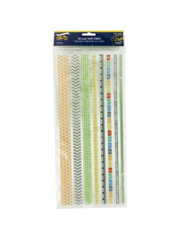 Decorative Vellum Tape Strips (Available in a pack of 24)