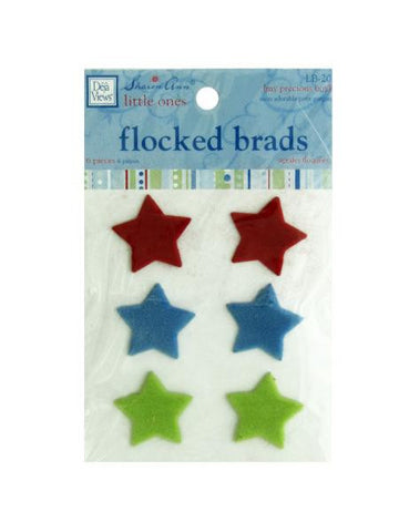 My Precious Boy Flocked Star Brads (Available in a pack of 24)