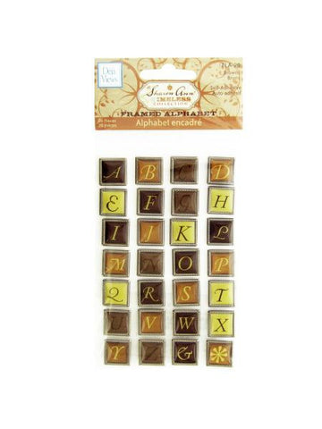 Browns Self-Adhesive Framed Alphabet (Available in a pack of 24)