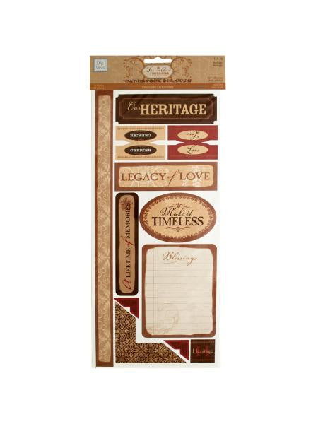 Heritage Self-Adhesive Cardstock Die-Cuts (Available in a pack of 24)
