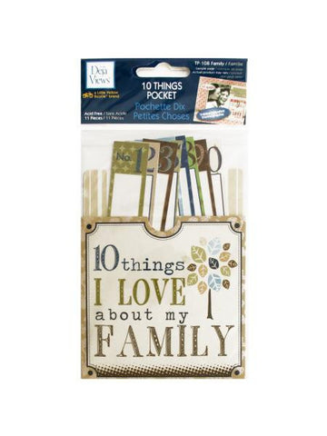 10 Things I Love About My Family Journaling Pocket (Available in a pack of 24) - Blobimports.com