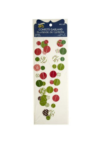 Christmas Confetti Craft Garland (Available in a pack of 24)