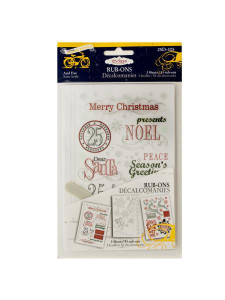 Christmas Rub-Ons (Available in a pack of 24)