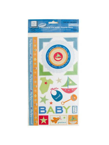 Baby Boy Cardstock Stickers (Available in a pack of 24)